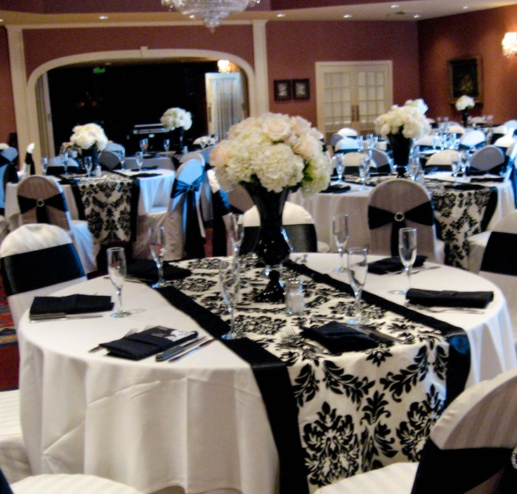 Black White And Purple Wedding