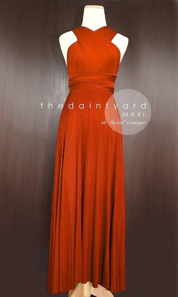 Burnt Orange And Gray Bridesmaid Dresses
