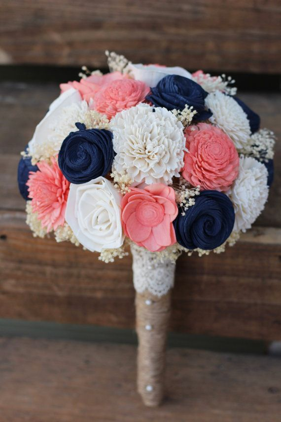 Coral and navy blue wedding flowers 17 best ideas about coral wedding bouquets on emasscraft org mightylinksfo