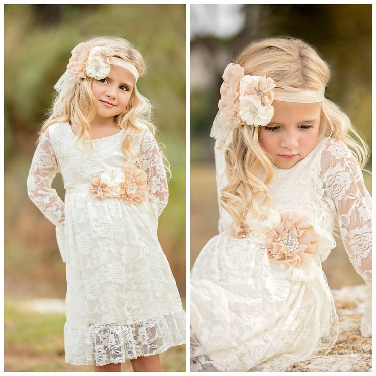 Wedding Dress Lace Flower Girlflower Girl Dressesdressesss Country Theme