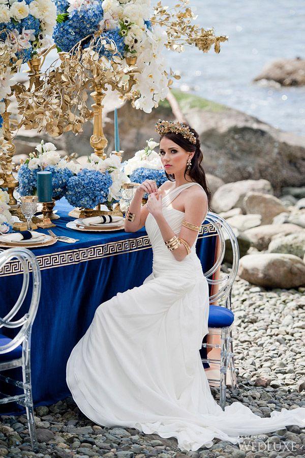 Ancient Greek Goddess Wedding Dress Fashion Design Images