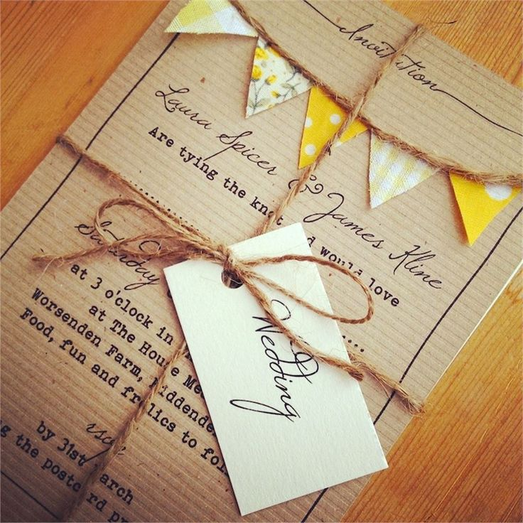 Wedding Invitation Homemade