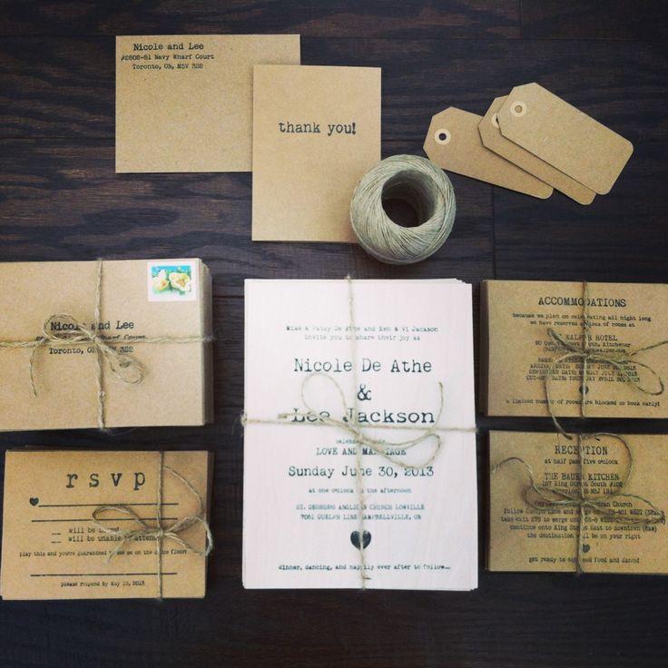 wedding invitation homemade - Homemade Wedding Invitations