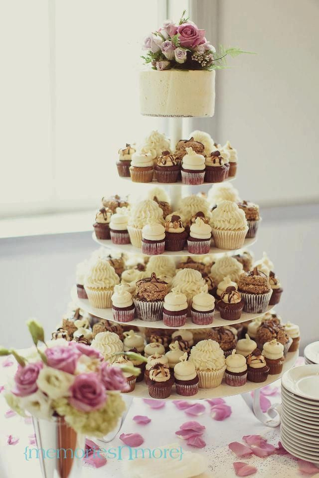 mini cupcake wedding cake. Black Bedroom Furniture Sets. Home Design Ideas