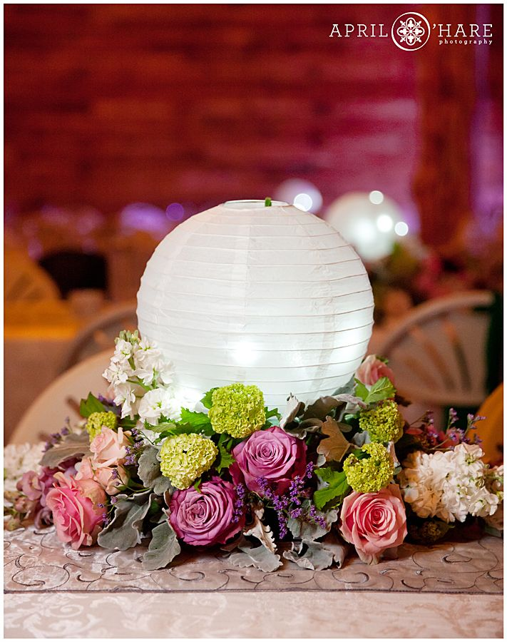 Paper lantern centerpieces for weddings