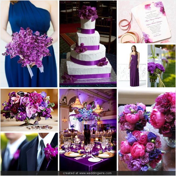 Navy Blue And Purple Wedding Colors