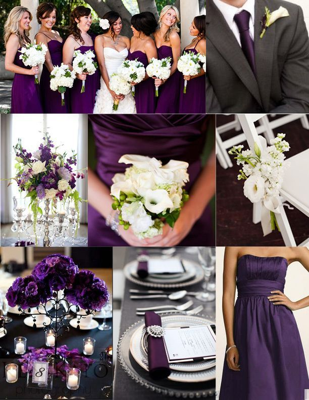 Emejing Purple Black And Silver Wedding Pictures - Styles & Ideas ...