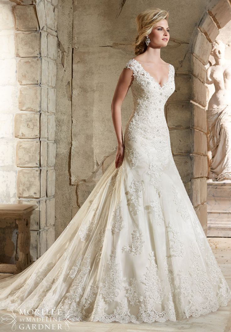 Lacy Bridal Gown
