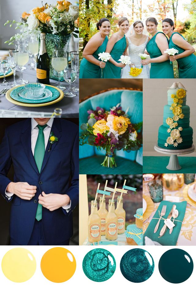 Teal Color Wedding Theme Gallery Decoration Ideas