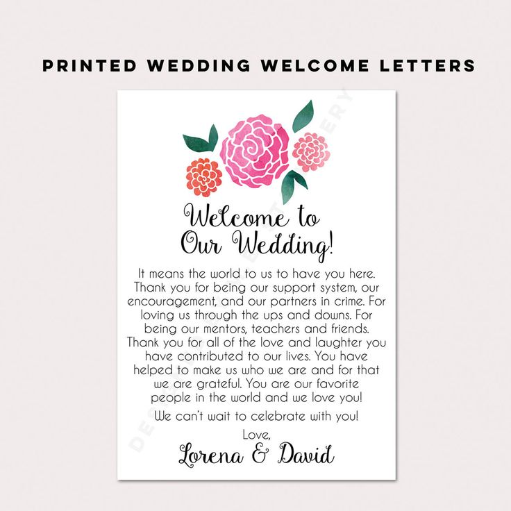 17 Best Ideas About Wedding Welcome Letters On Emcraft Org