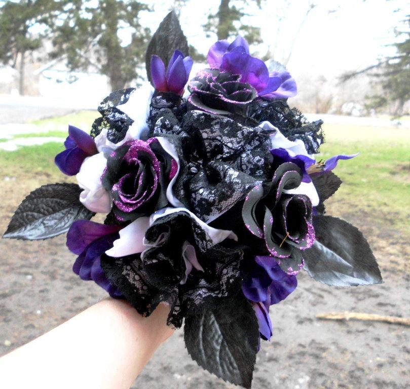 Purple And Black Wedding Flowers