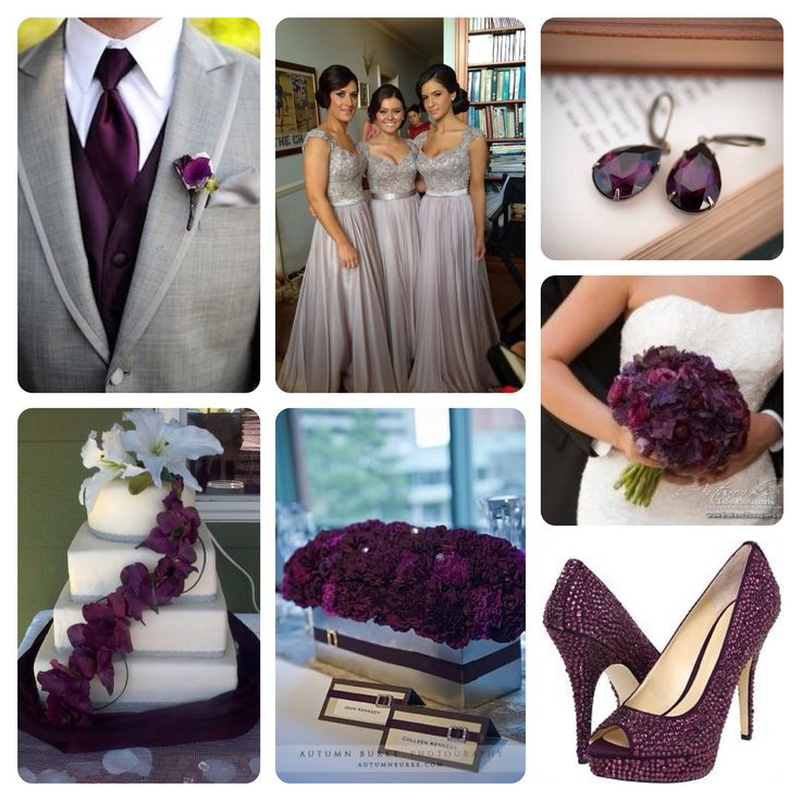 17 Best Images About Plum Purple And Silver Or Gray Wedding Ideas