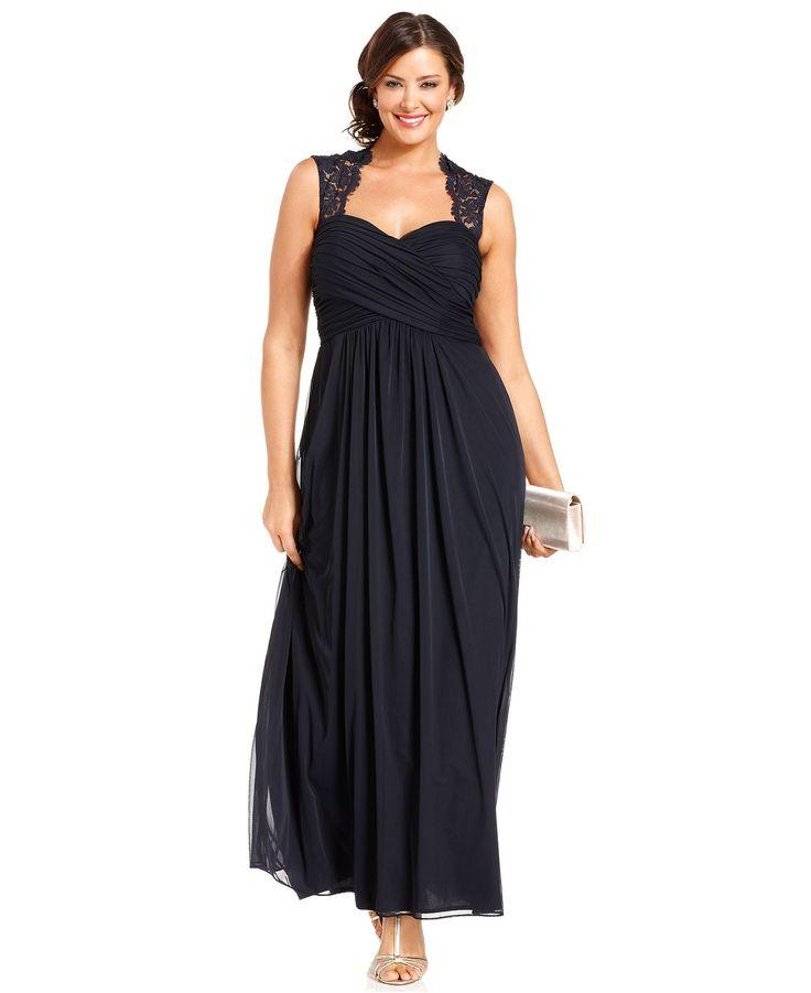 macys plus size wedding dress