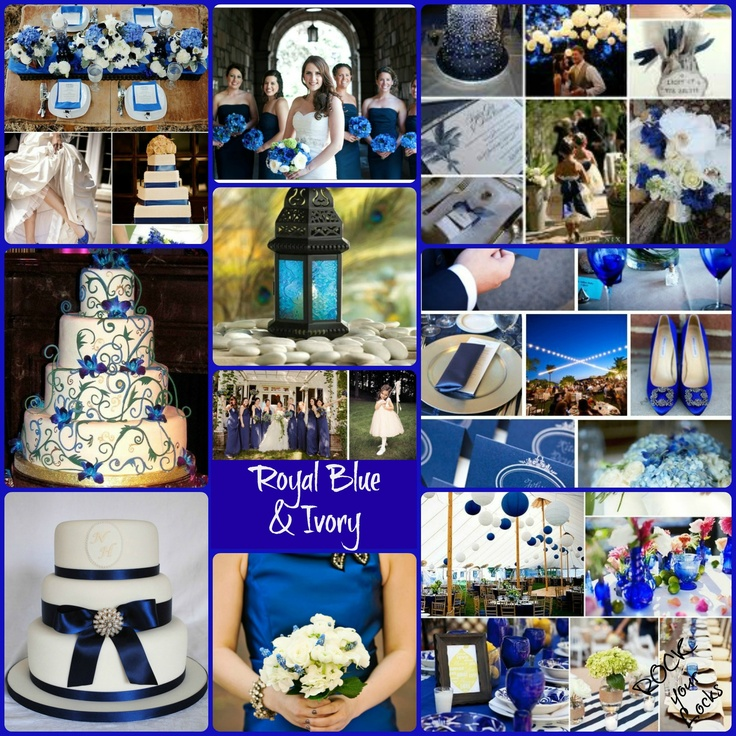 Royal Blue And Silver Wedding Ideas: Royal Blue Ivory And Silver Wedding