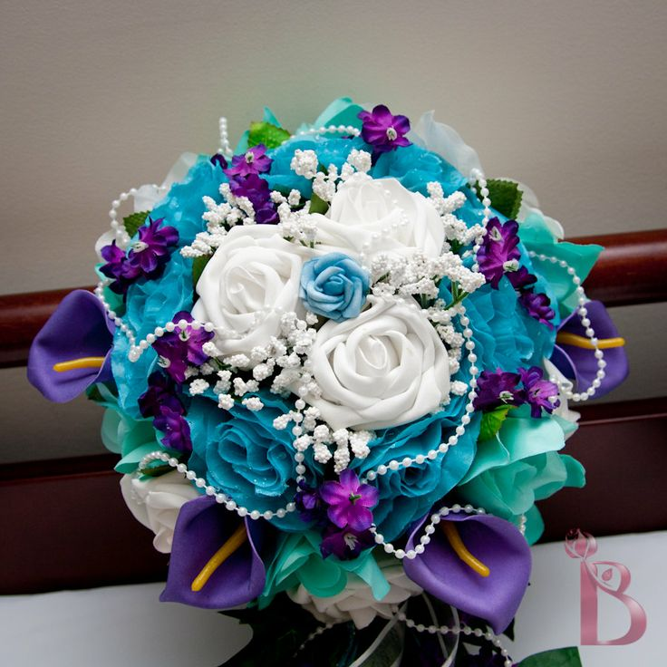 Stunning Blue And Purple Wedding Bouquets Photos - Styles & Ideas ...