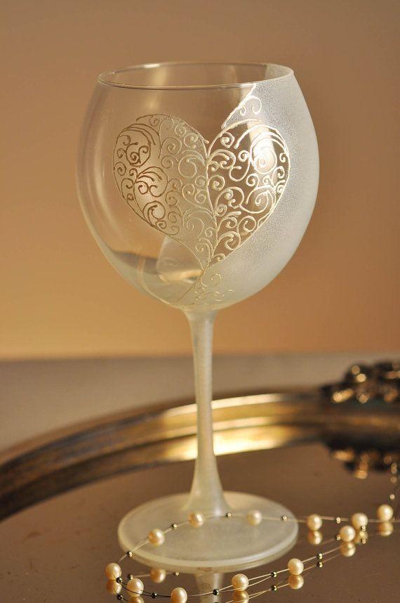 Wedding Wine Glass Decorating Ideas