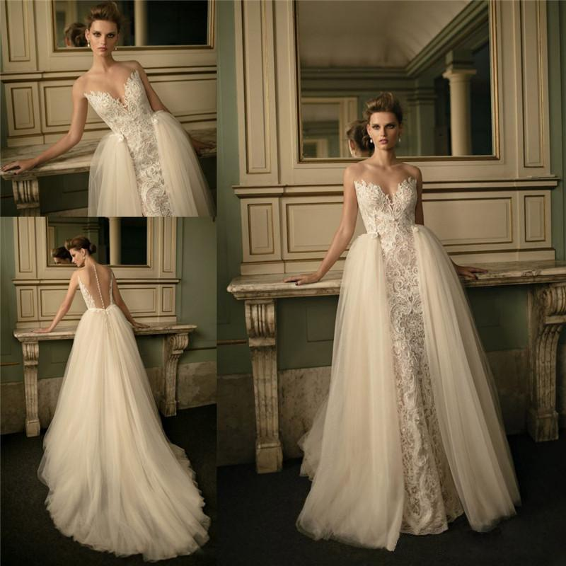 Removable Wedding Gown Dress: Removable Train Wedding Dress