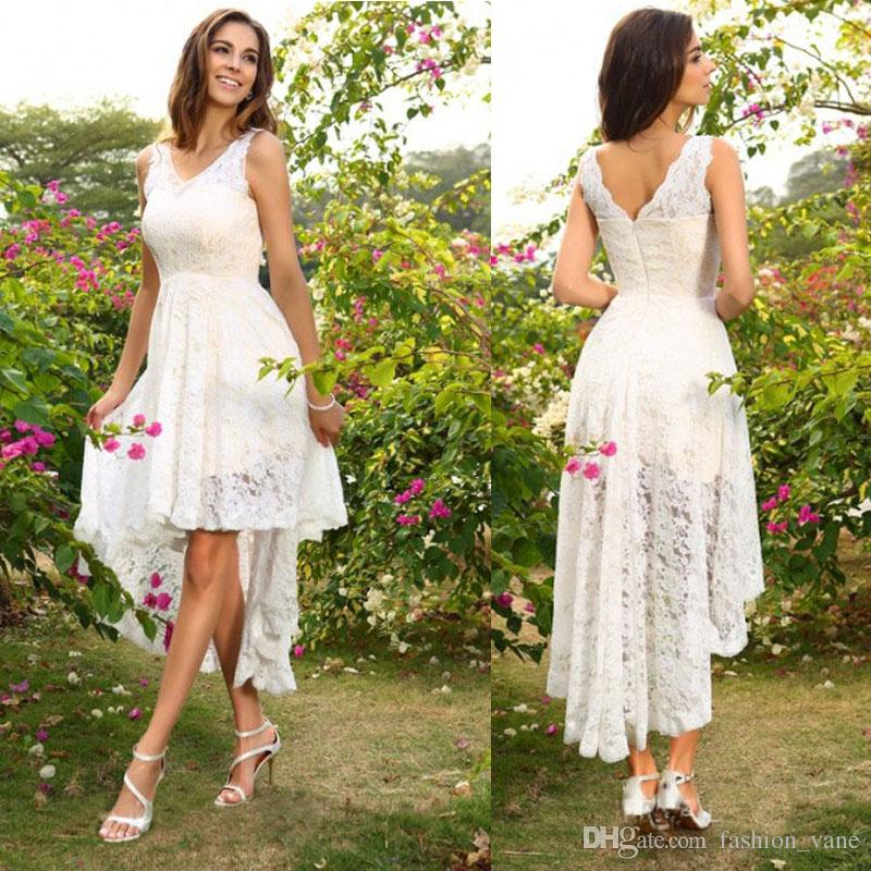 Short Country Wedding Dresses: High Low Country Wedding Dress