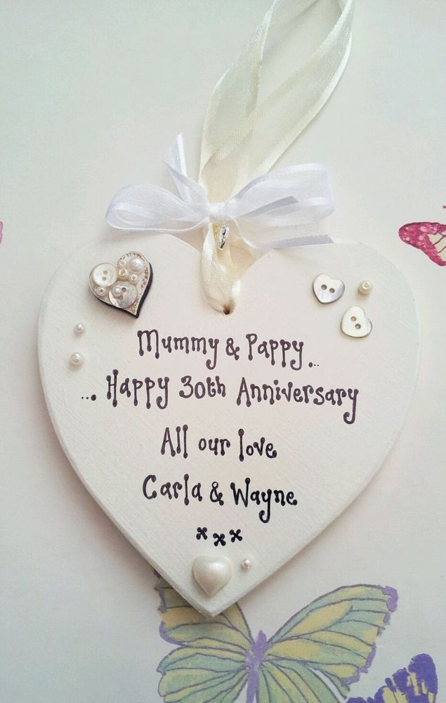 Gift Ideas 30th Wedding Anniversary : 30th Wedding Anniversary Pearl Present Mum Dad Gift Keepsake