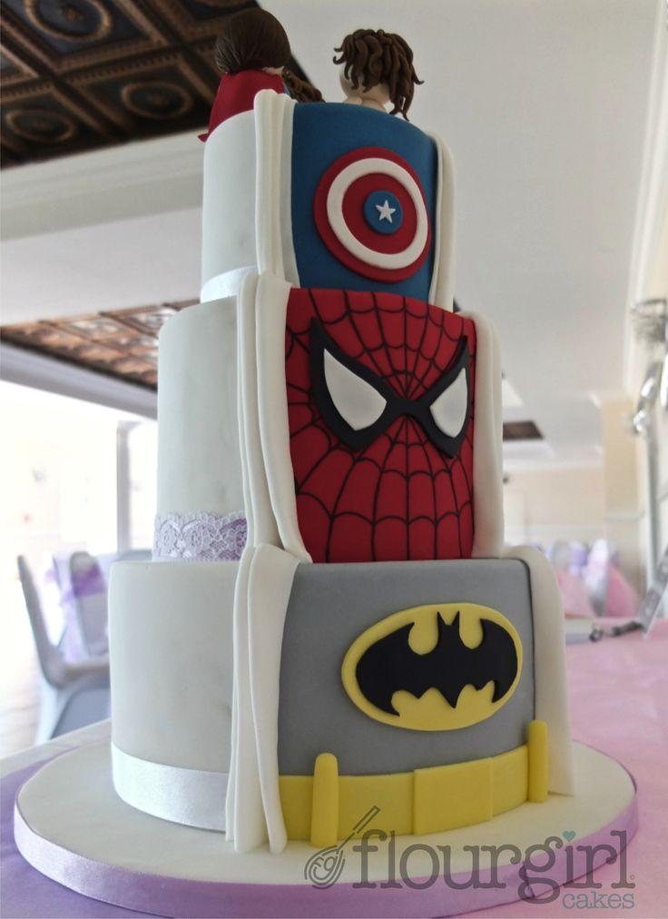 superhero wedding cakes. Black Bedroom Furniture Sets. Home Design Ideas