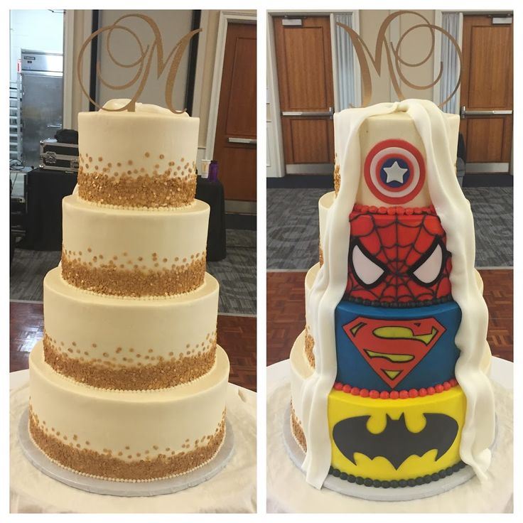 superhero wedding cake ideas wedding cakes 20606