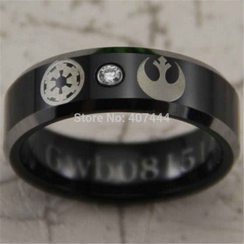 Mens star wars wedding band for Star wars mens wedding ring