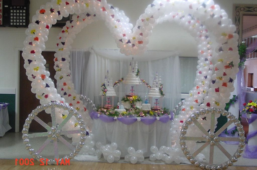 Balloon Decoration For Wedding Reception