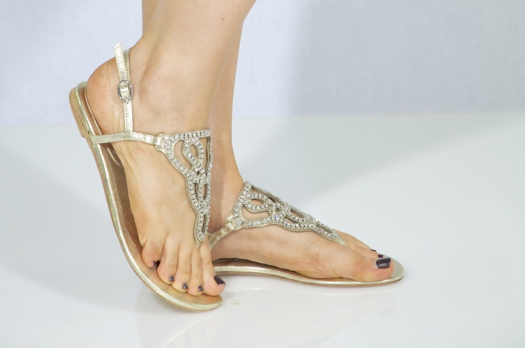 Wedding sandals flat for Flat dress sandals for weddings