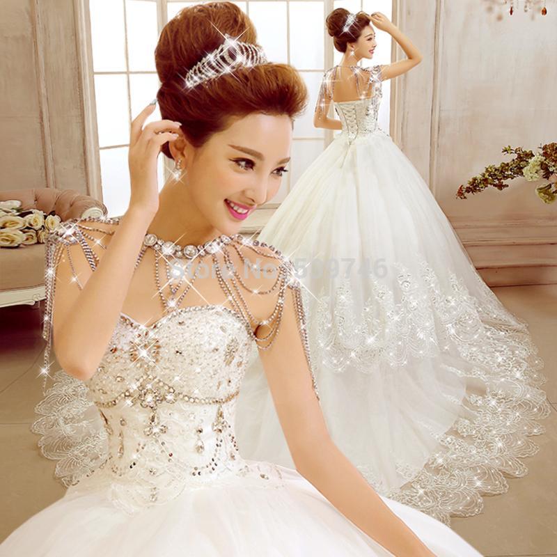 Beautiful Diamond Wedding Dress