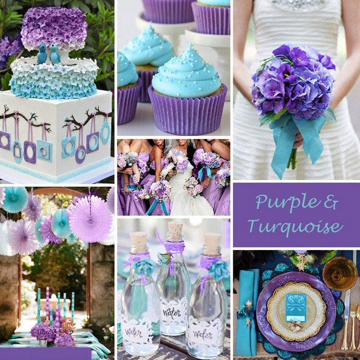 Best Ideas For Purple And Teal Wedding Green