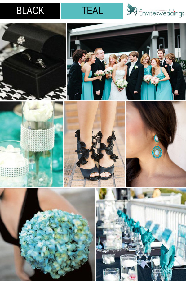 Awesome Black White And Teal Wedding Ideas - Styles & Ideas 2018 ...