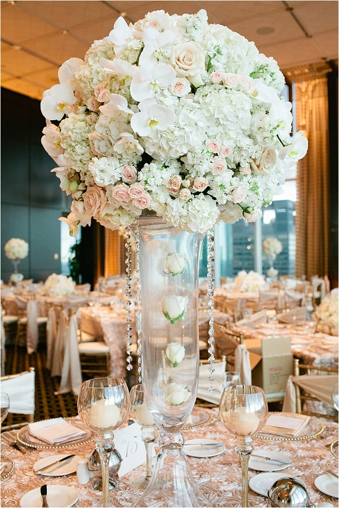 Ivory And Gold Wedding Centerpieces Blush Houston Blog