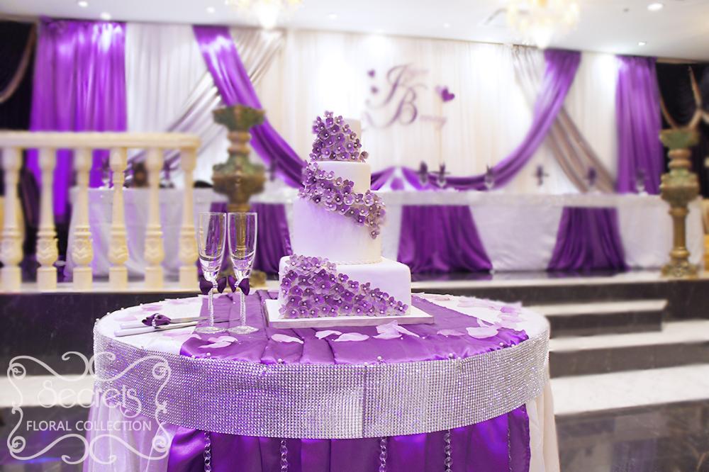 Свадебные залы оформление в сиреневом