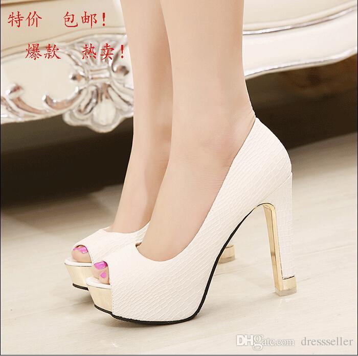 Chunky Heel Wedding Shoes
