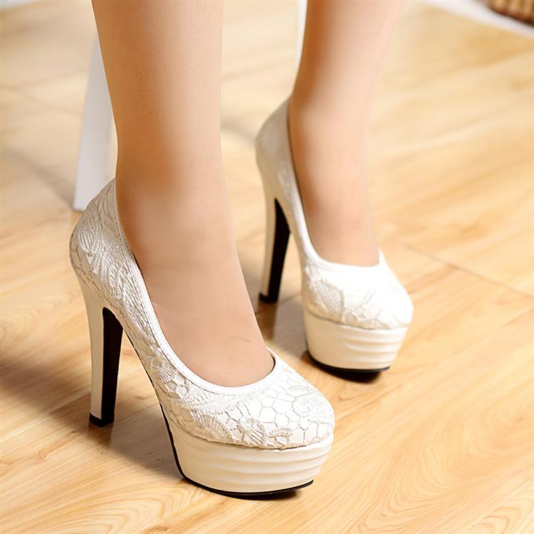 Chunky Heel Wedding Shoes Photo Al