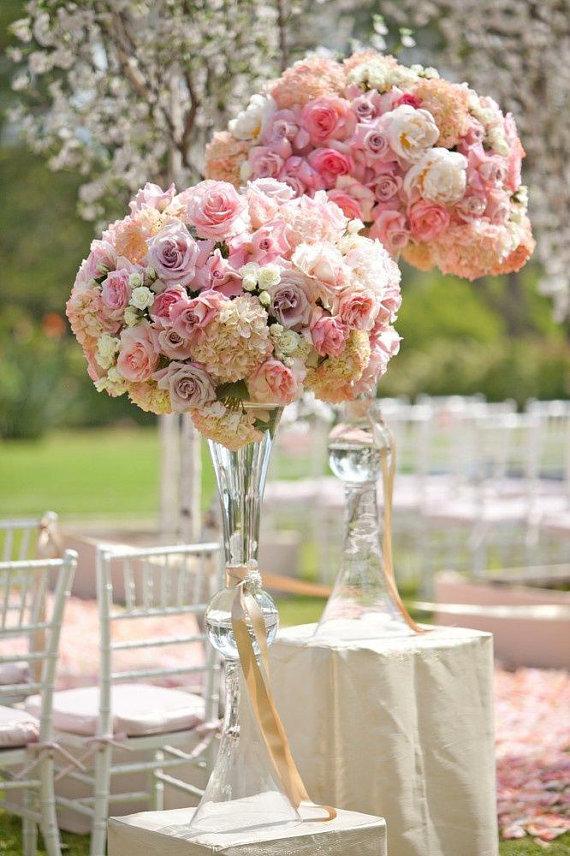 Clear Reversible Trumpet Glass Vase Wedding Centerpiece Emasscraft