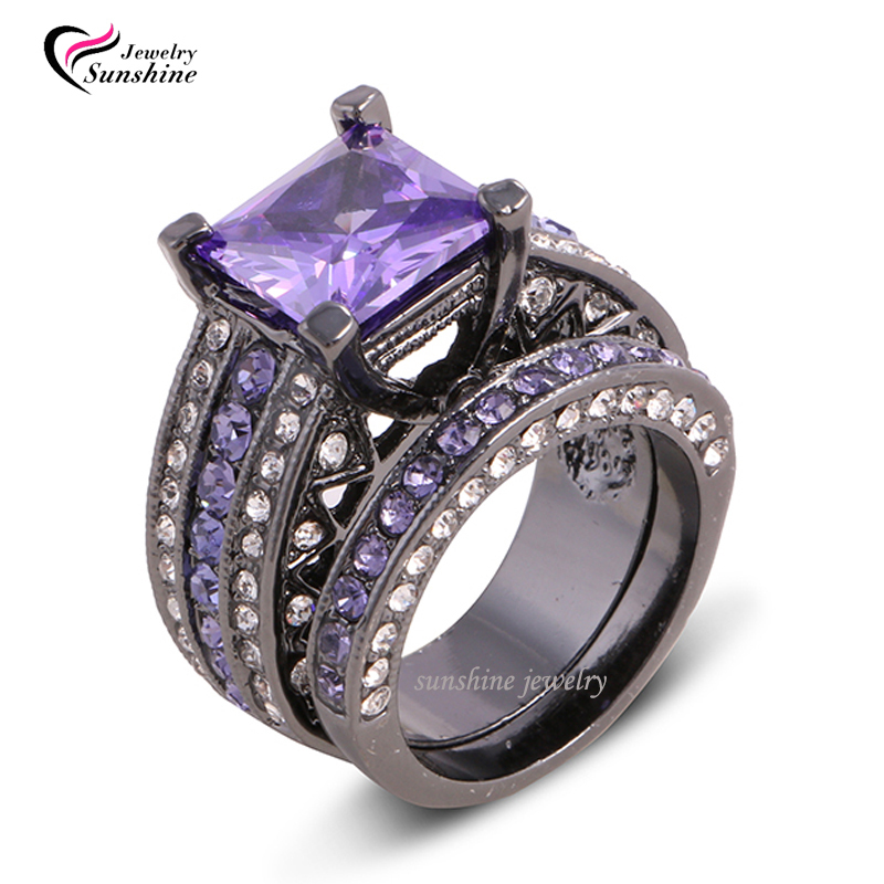 collection black and purple engagement rings pictures - Purple Wedding Rings