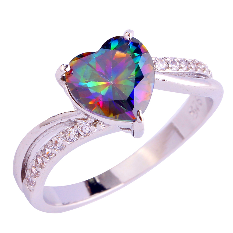 collection rainbow engagement rings pictures - Rainbow Wedding Rings