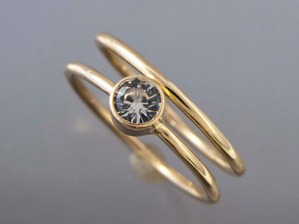 white new ring yellow settings with rose engagement rings gold thin band wedding