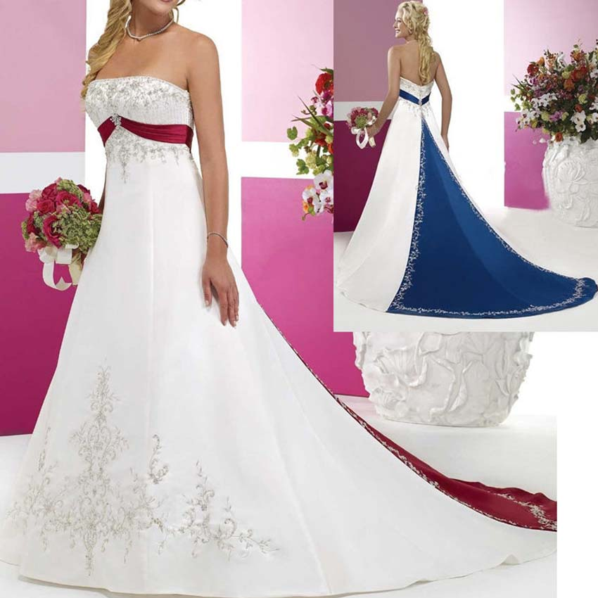 Royal blue ivory and silver wedding for Royal blue and silver wedding dresses
