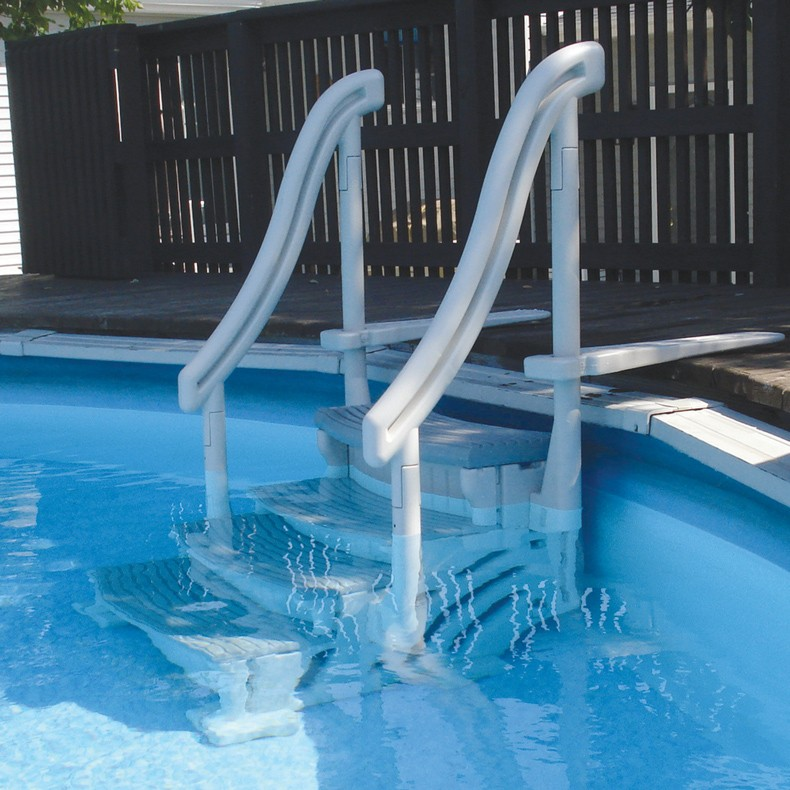 Confer Curve Above Ground Pool Steps For Sale