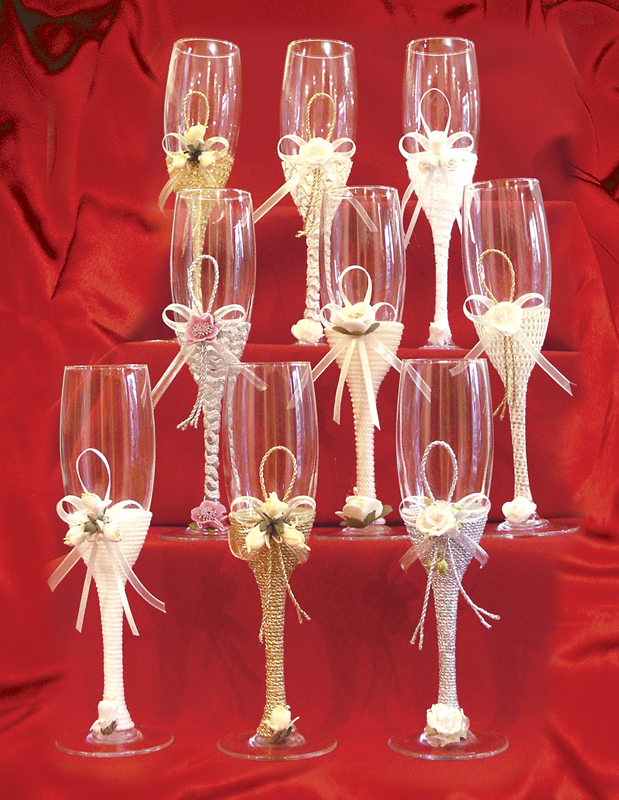 Wine glass decorations for weddings imgkid the