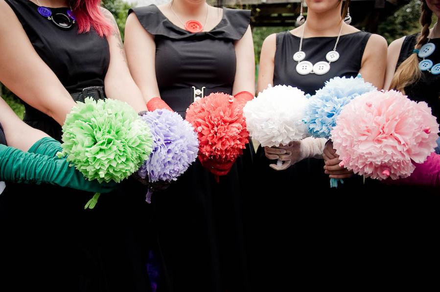 Pom Pom Flowers For Weddings