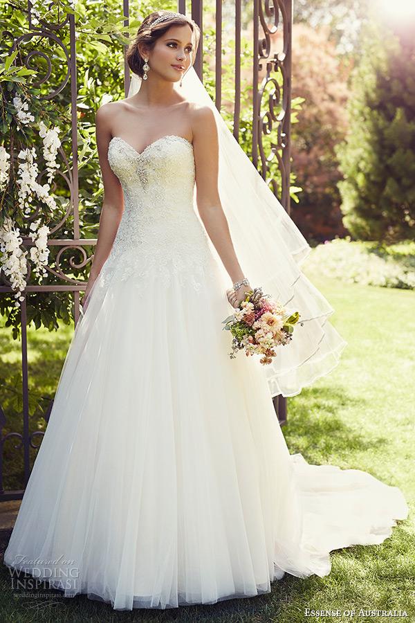 Sweetheart neckline wedding dress asymmetrically ruched sweetheart neckline tulle a essense of australia 2015 wedding dresses junglespirit Choice Image