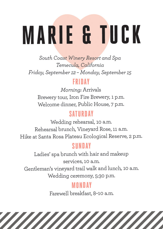 Wedding weekend itinerary template zrom wedding weekend etsy maxwellsz