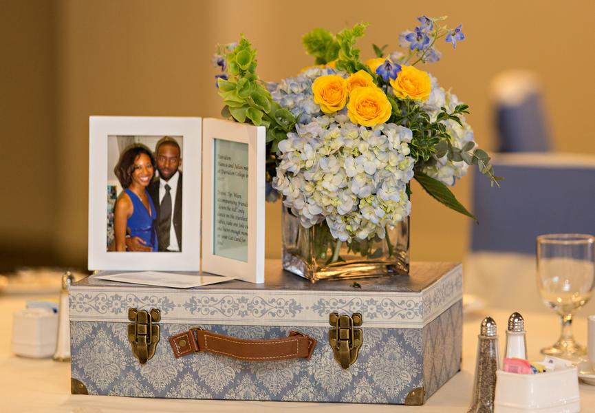 Travel Themed Wedding Centerpieces
