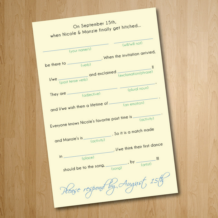Funny Wedding Invite Wording