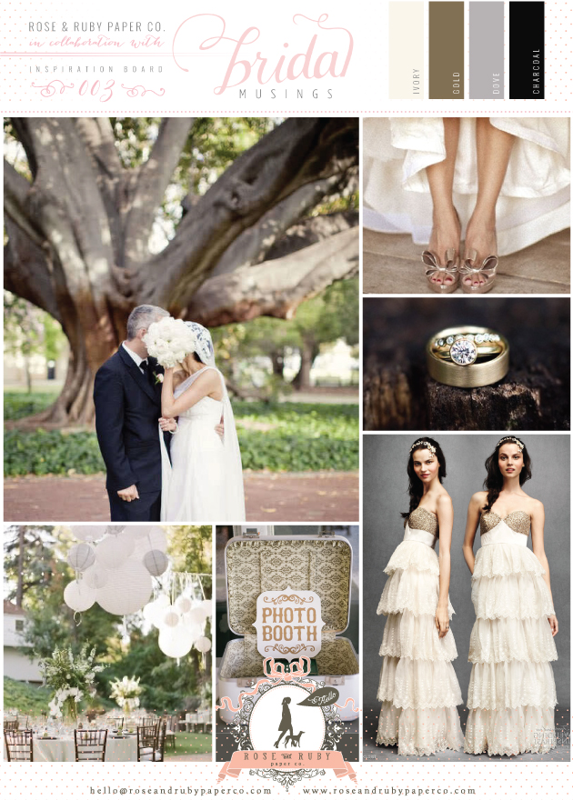 Glamourous Gold Grey Charcoal Wedding Ideas Inspiration