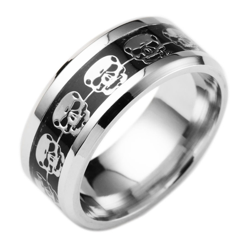 Mens Skull Wedding Rings
