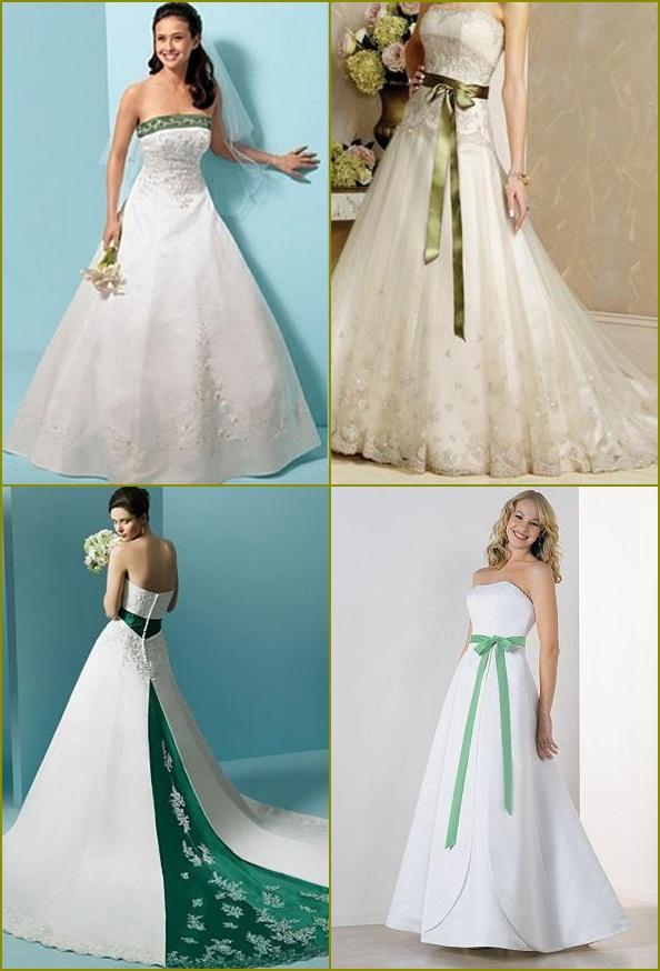 White and green wedding dresses wedding dresses asian for White green wedding dress